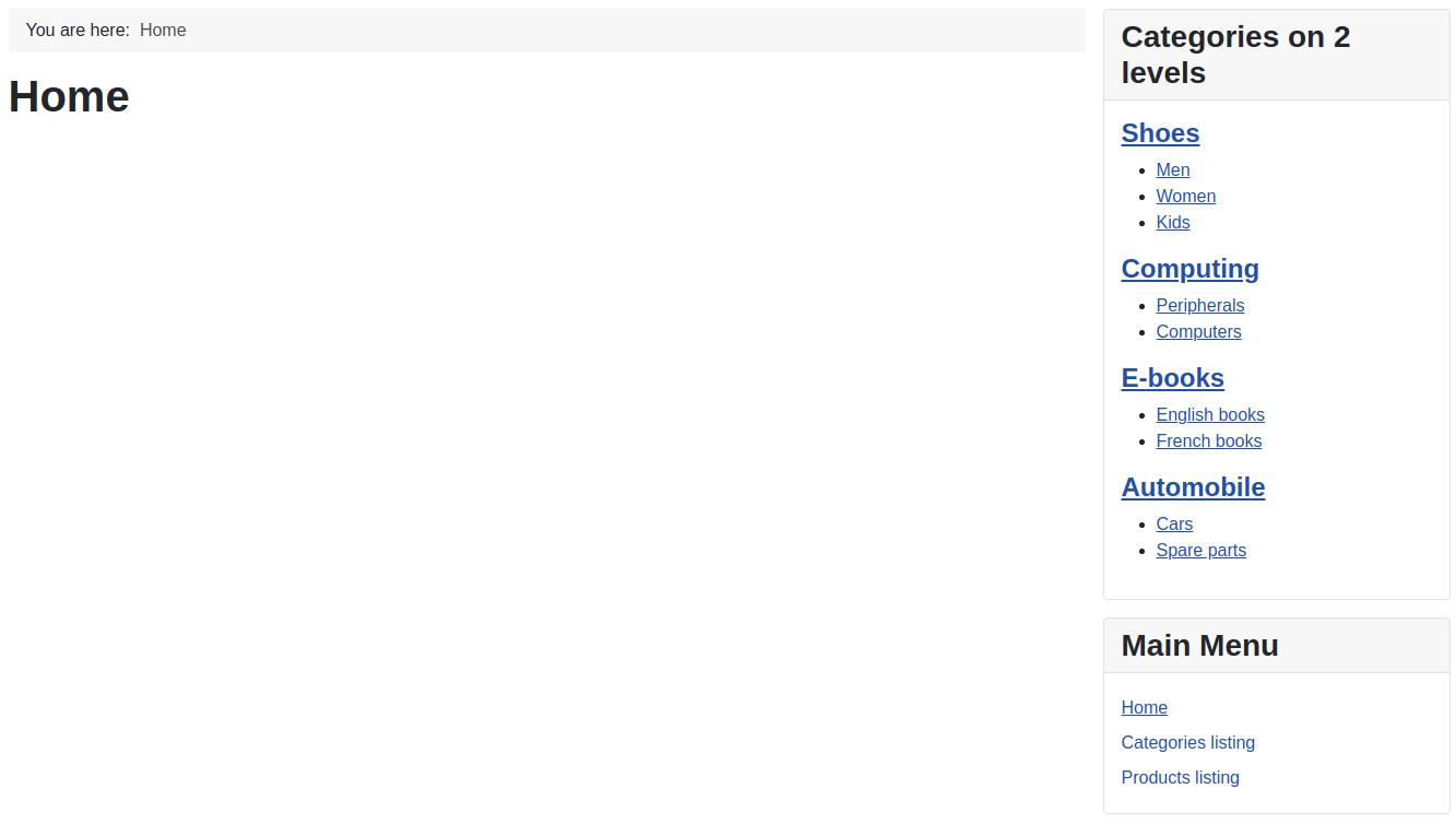 View of All HikaShop Listing Options