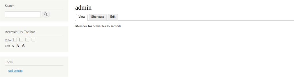 Civic Accessibility Toolbar screenshot