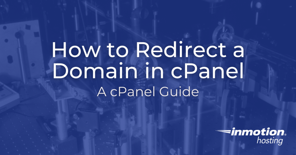 How to Redirect a Domain in cPanel Title Image