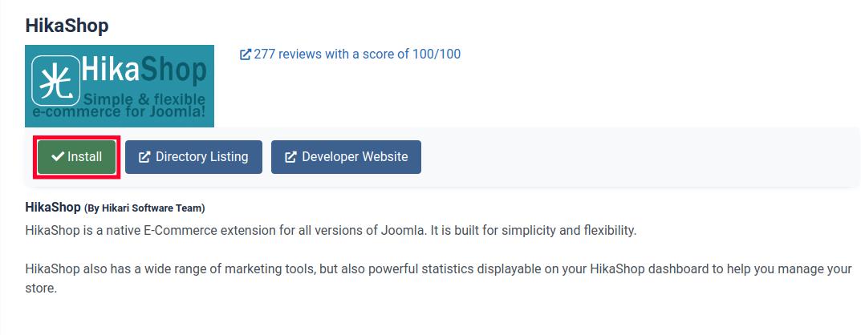 Install HikaShop in Joomla 4