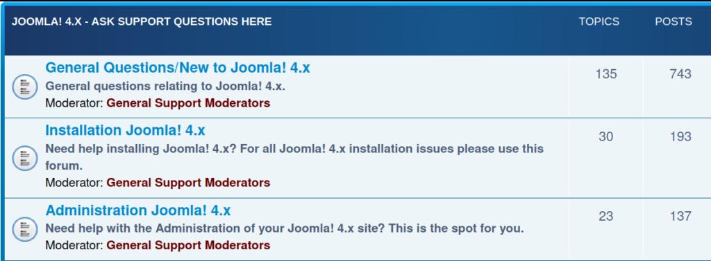 Joomla! 4.X Official forum