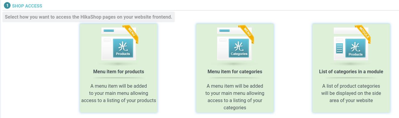 Joomla 4 Access Product Settings