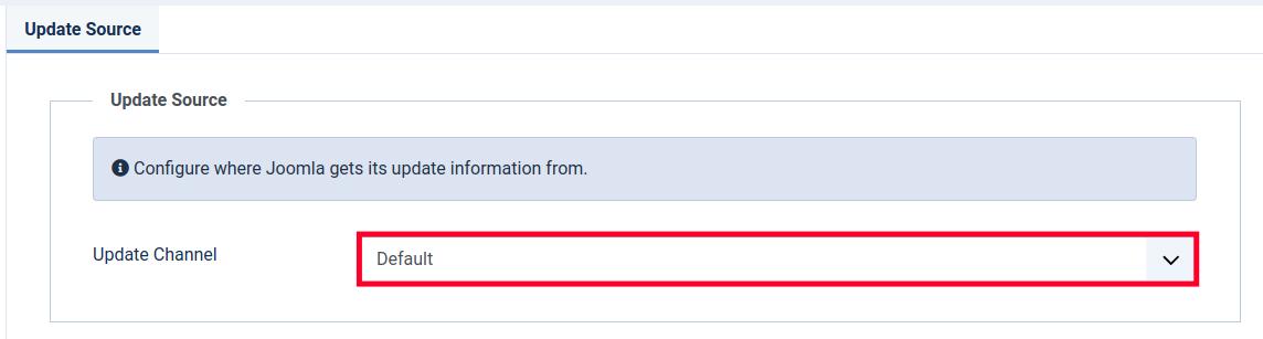 Choosing an Update Channel in Joomla 4