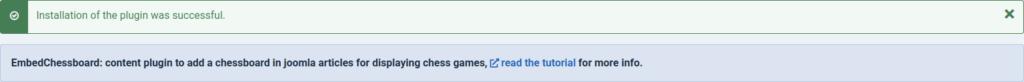 EmbedChessboard plugin installed