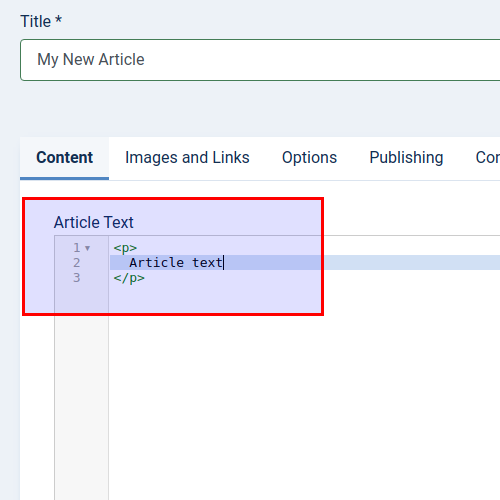 Add article text