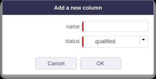 Add a new ProjeQtOr kanban column