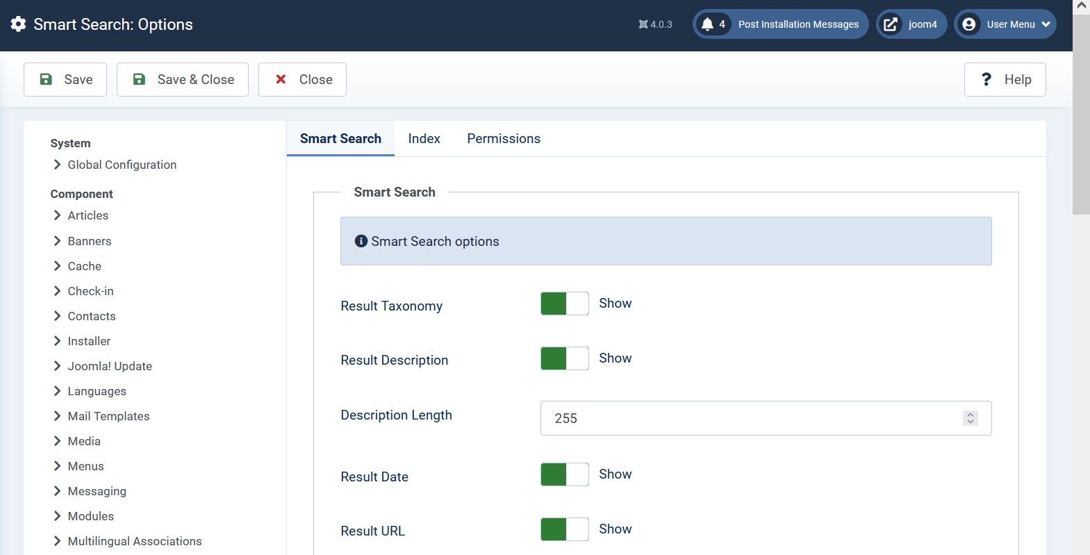 Smart Search Options