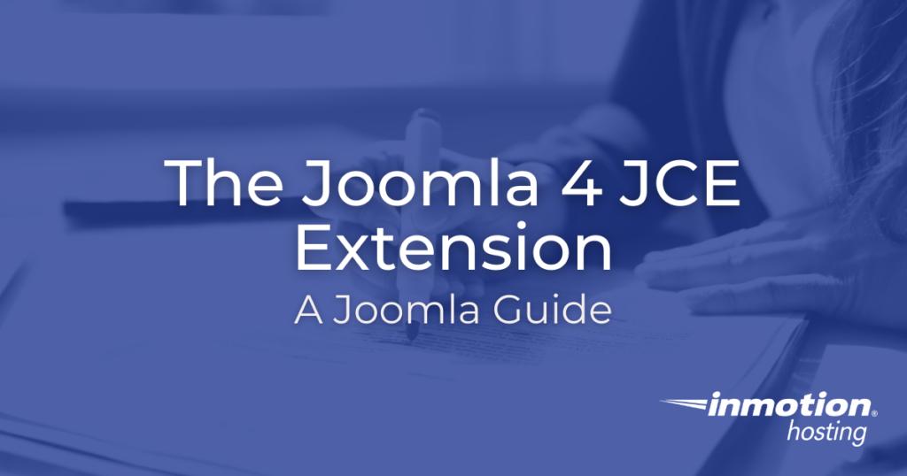 Joomla 4 JCE Extension Title Image