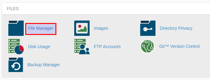 Choose File Manager