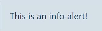 info alert