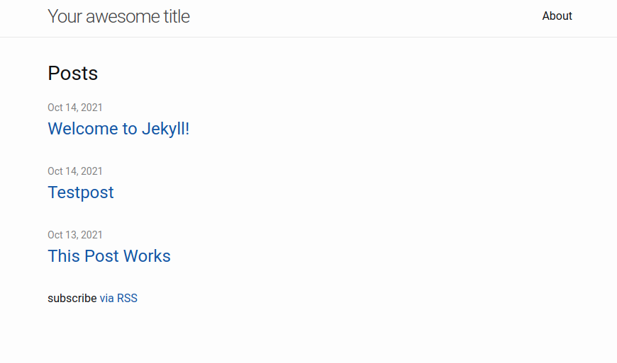 The Jekyll default theme home page