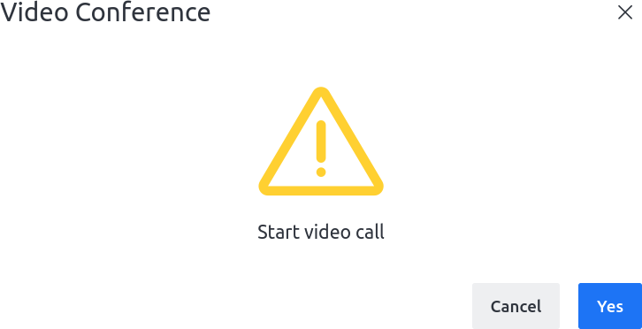 Rocket.Chat prompt to start a Jitsi video call
