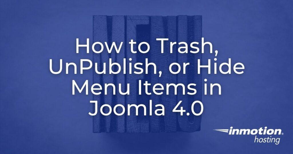 How to trash, unpublish, or hide menu items - image header